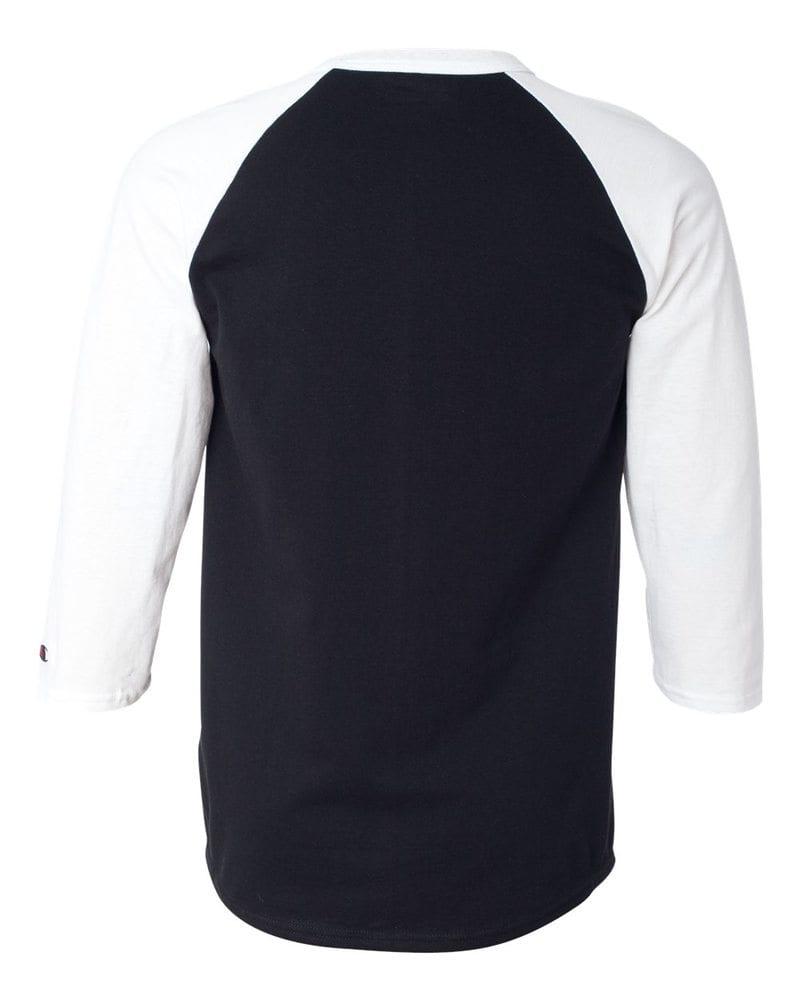 Champion T137 Raglan Baseball T Shirt Needen Usa Kaos Polos Stripe Big Black Next