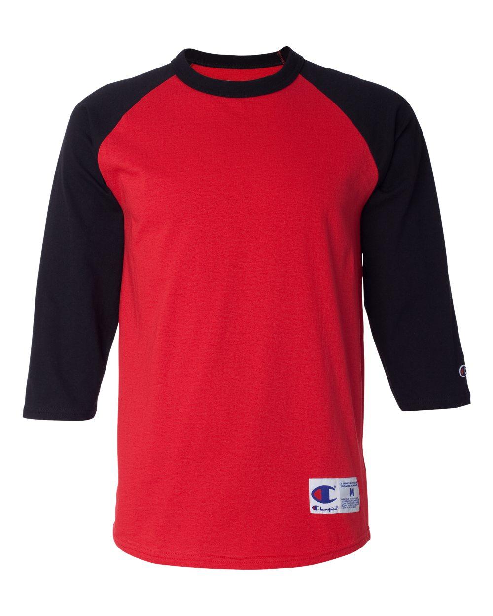 c55e1406 Champion T137 - Raglan Baseball T-Shirt | Needen USA