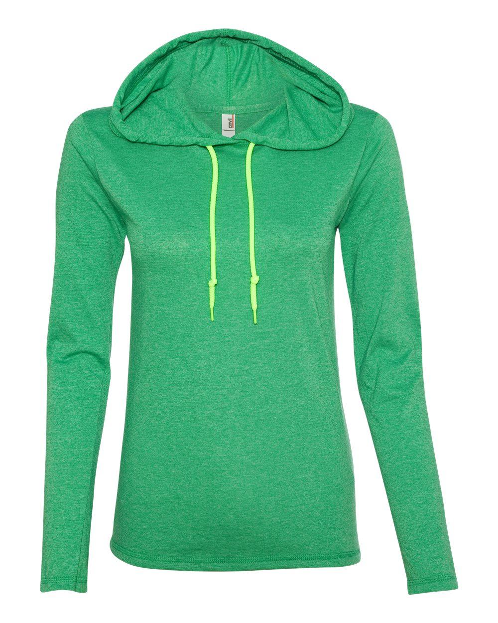 f00b20826a67 Anvil 887L - Ladies' Lightweight Long Sleeve Hooded T-Shirt   Needen