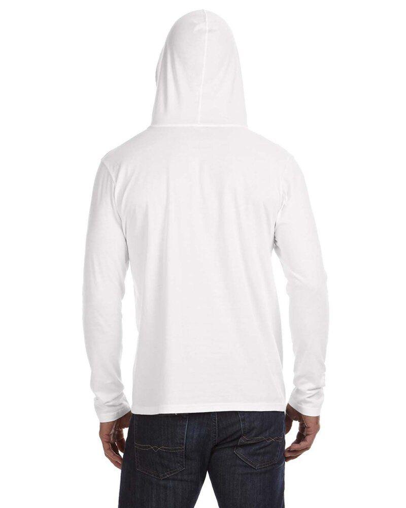 Anvil 987 - Lightweight Long Sleeve Hooded T-Shirt