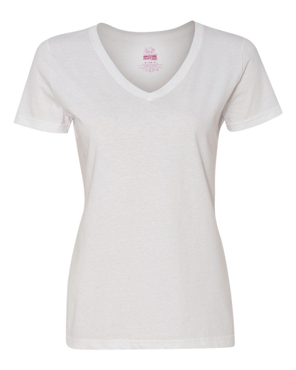 ba92564e Fruit of the Loom L39VR - Ladies' Heavy Cotton HD™ V-Neck T-Shirt