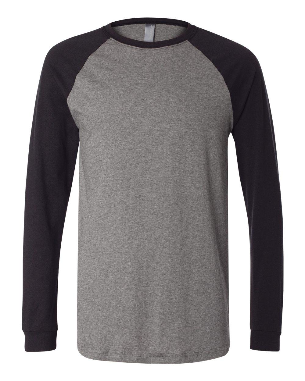 bellacanvas 3000 long sleeve baseball jersey t shirt needen usa
