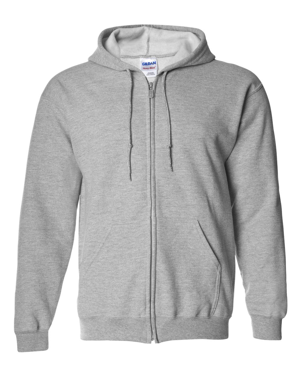 gildan 18600 heavy blend full zip hooded sweatshirt needen usa