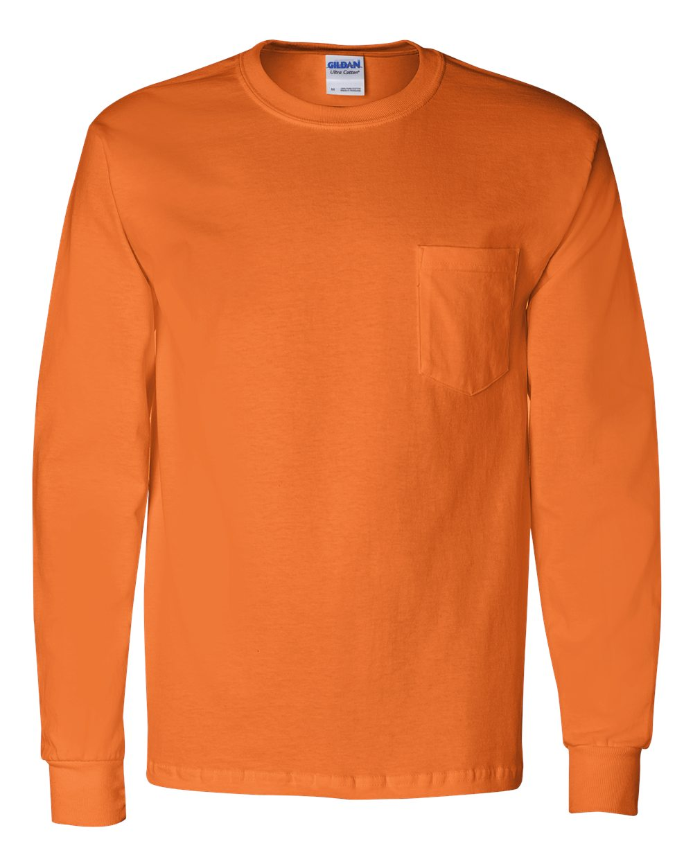 ec3e71208ed Gildan 2410 - Ultra Cotton™ Long Sleeve T-Shirt with a Pocket