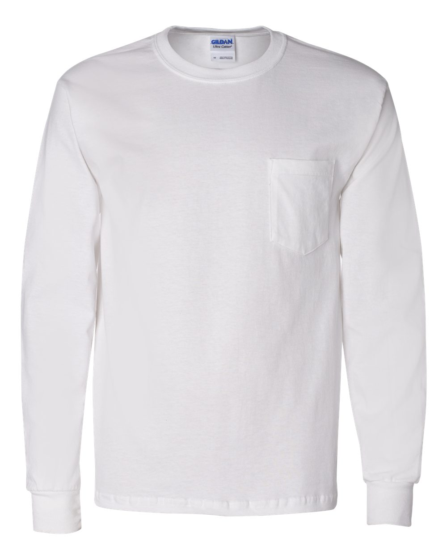 11ae9d007 Gildan 2410 - Ultra Cotton™ Long Sleeve T-Shirt with a Pocket | Needen
