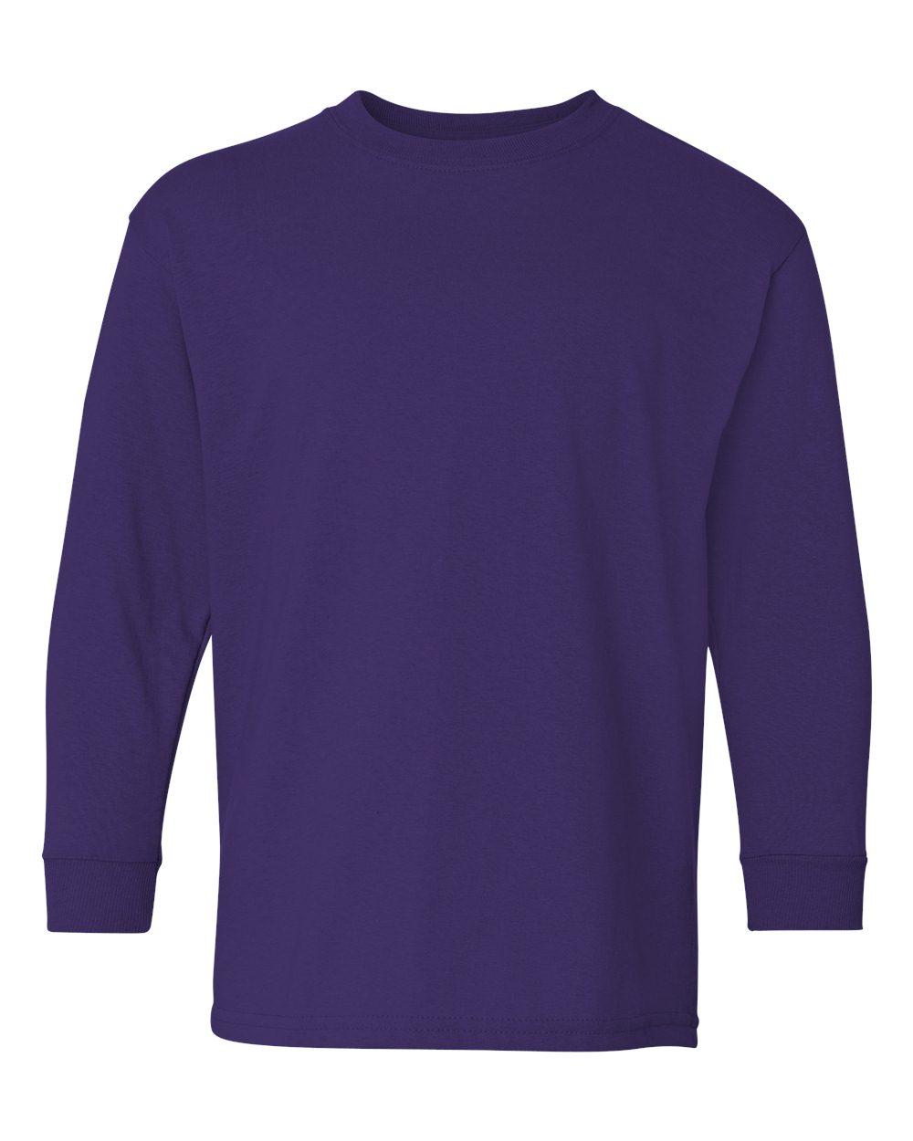 bdc72bfb6147 Gildan 5400B - Youth Heavy Cotton Long Sleeve T-Shirt | Needen USA