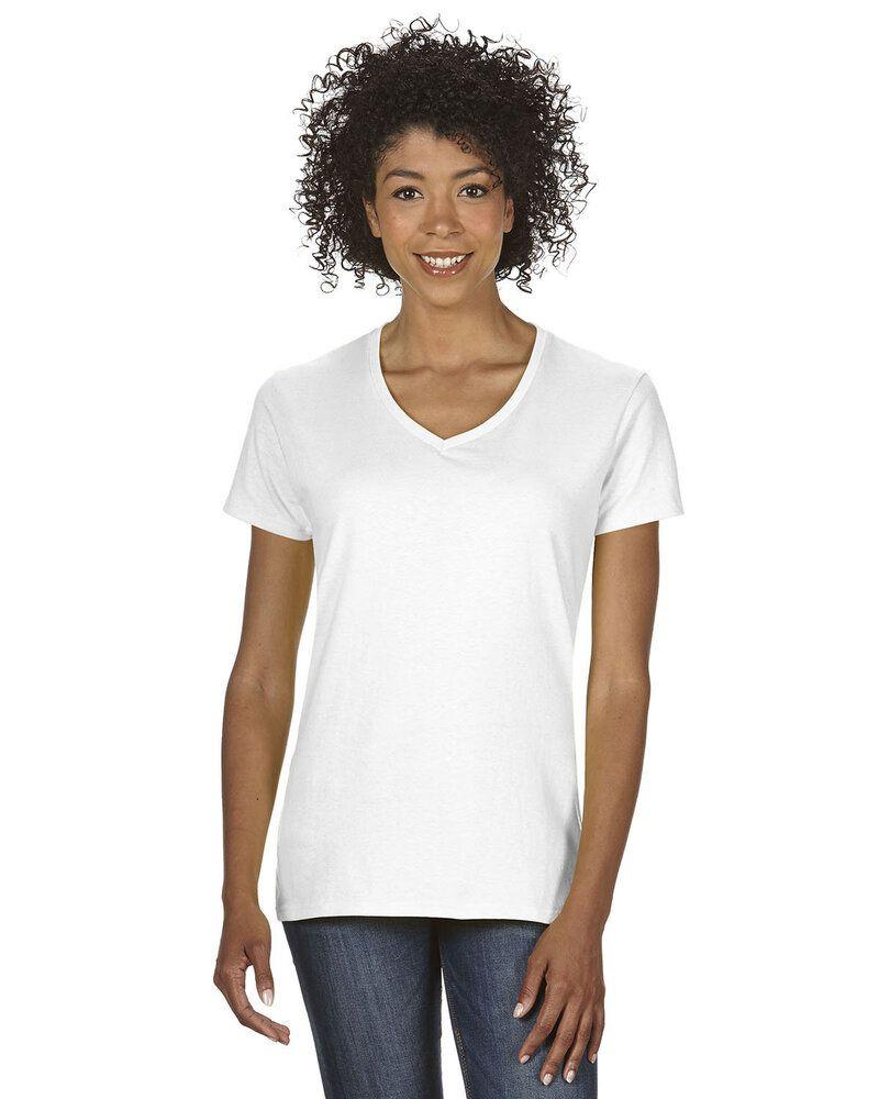 124f2de20 Gildan 5V00L - Ladies' Heavy Cotton V-Neck T-Shirt with Tearaway Label