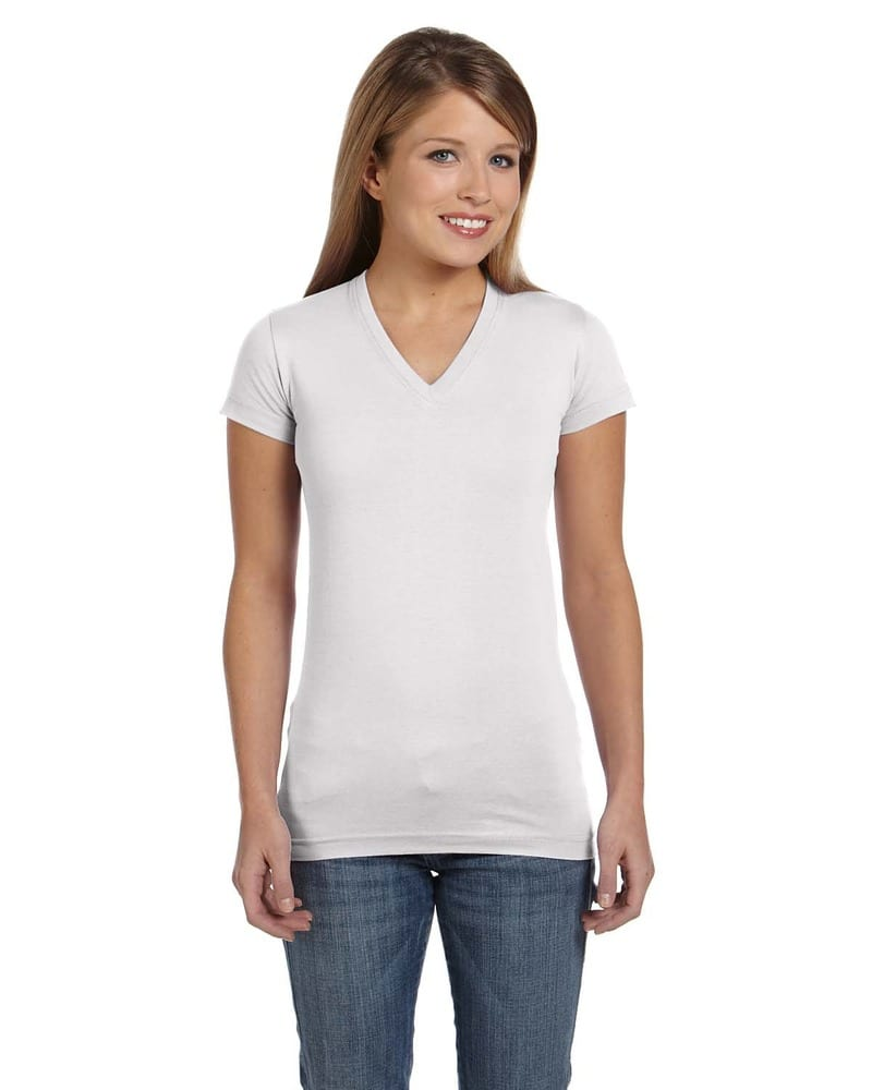 60443aa69099 LAT 3607 - Junior Fit Fine Jersey V-Neck Longer Length T-Shirt