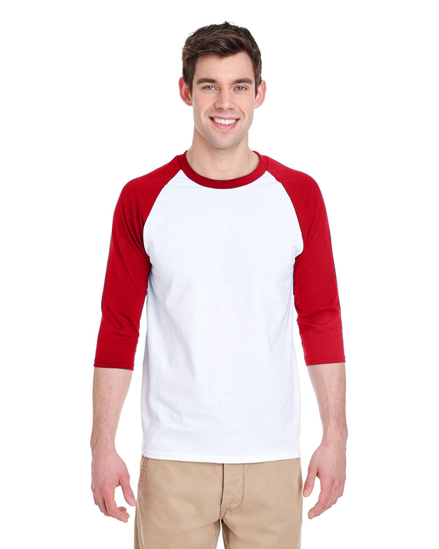 87cf0cadbf0e Gildan 5700 - Heavy Cotton Three-Quarter Raglan Sleeve T-Shirt ...