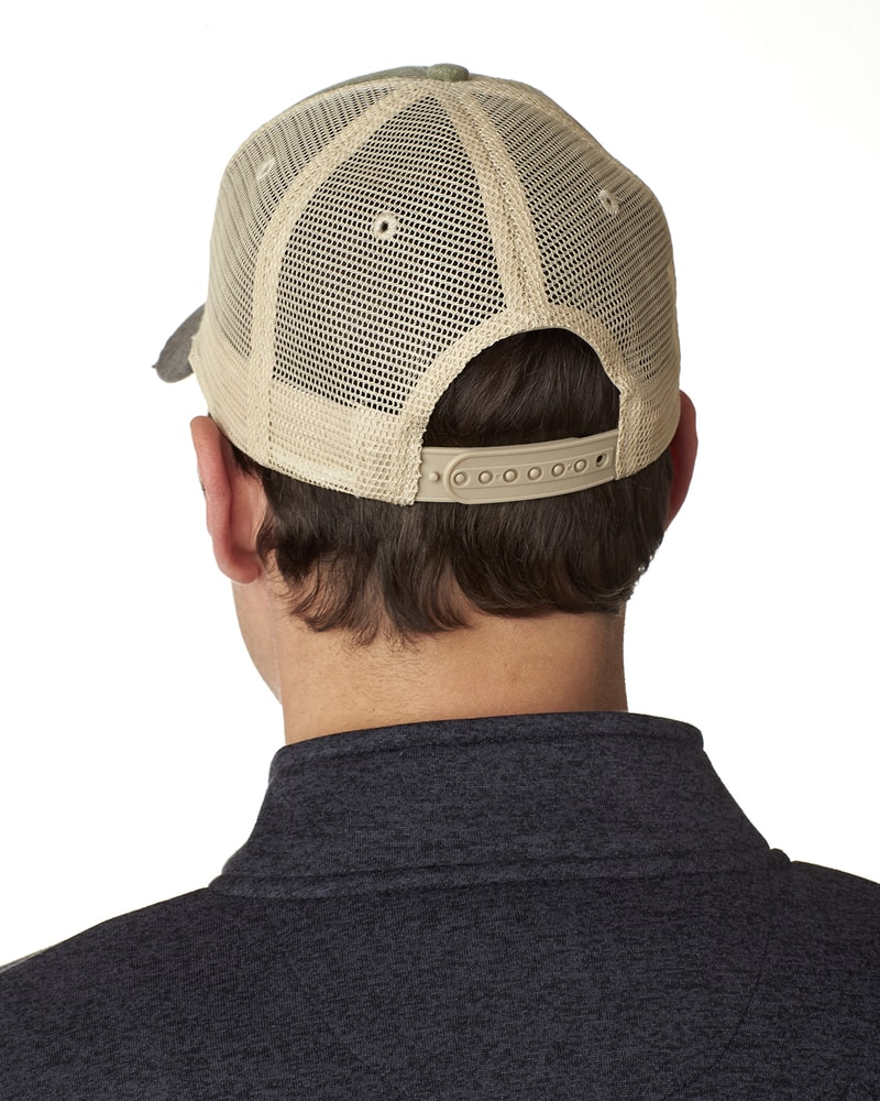 9841a2f8d Previous. Adams OL102 - 6-Panel Pigment-Dyed Distressed Trucker Cap ...