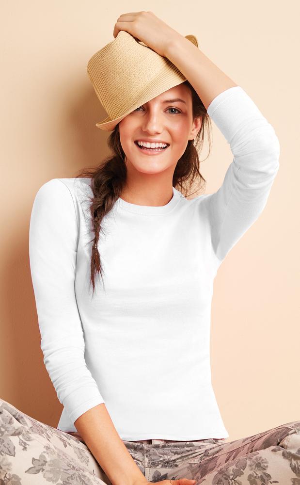 Gildan 64400L - Softstyle Ladies' Long Sleeve Tee