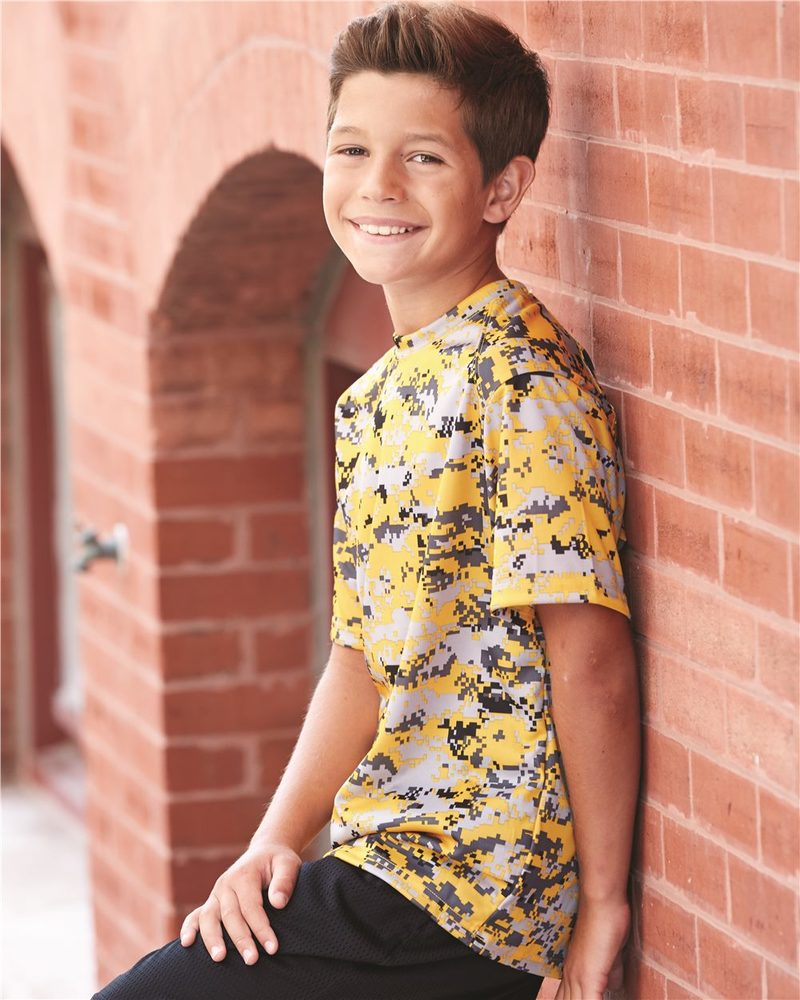 Badger 2180 - B-Core Youth Digital Camo T-Shirt