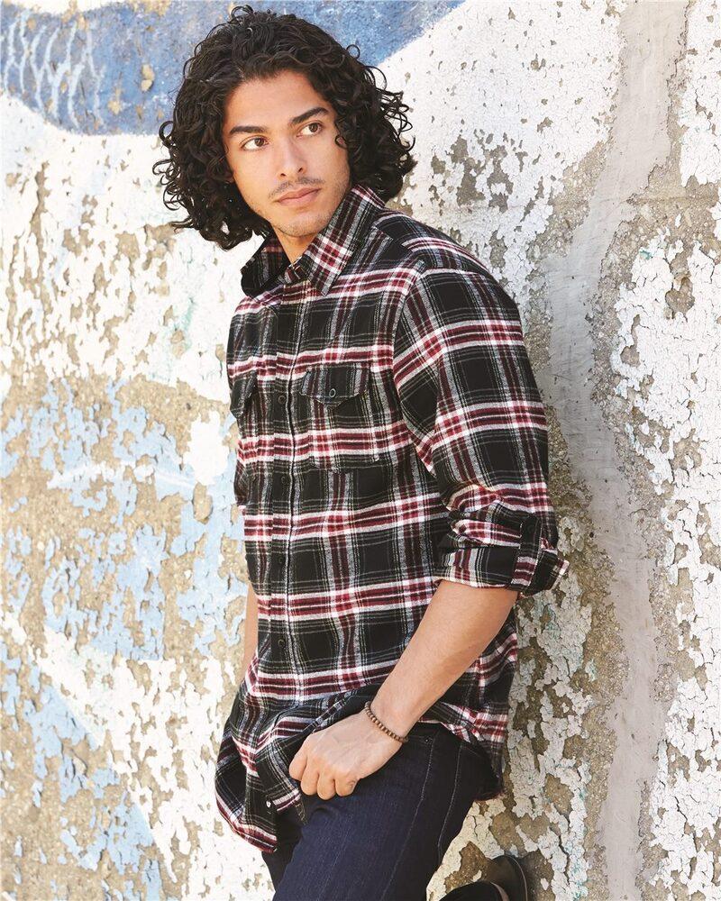Burnside B8210 - Yarn-Dyed Long Sleeve Flannel Shirt