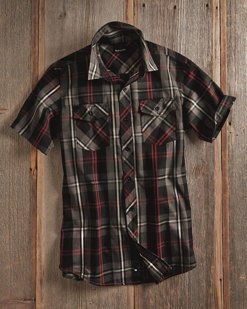 Burnside B9202 - Plaid Short Sleeve Shirt