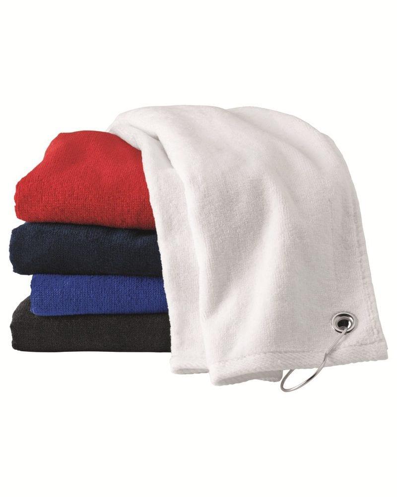Carmel Towel Company C1518GH - Velour Hemmed Towel with Corner Grommet & Hook