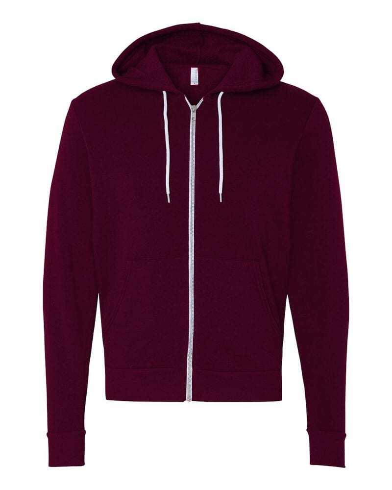 Bella+Canvas 3739 - Unisex Full-Zip Hooded Sweatshirt