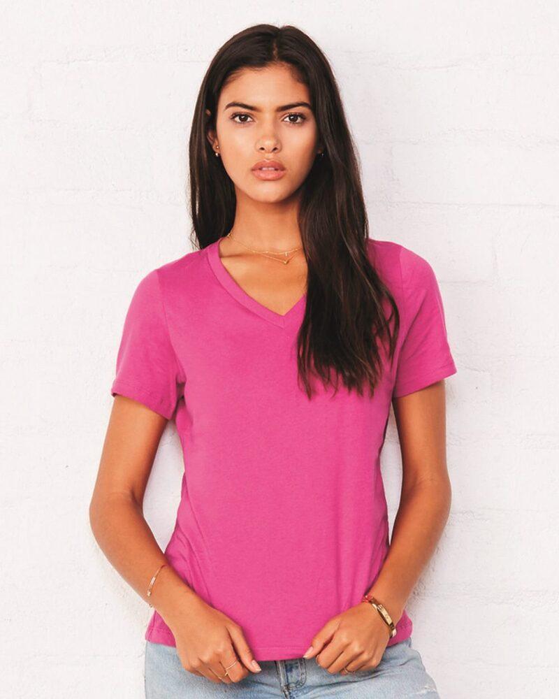 Bella+Canvas 6405 - Relaxed Short Sleeve Jersey V-Neck T-Shirt