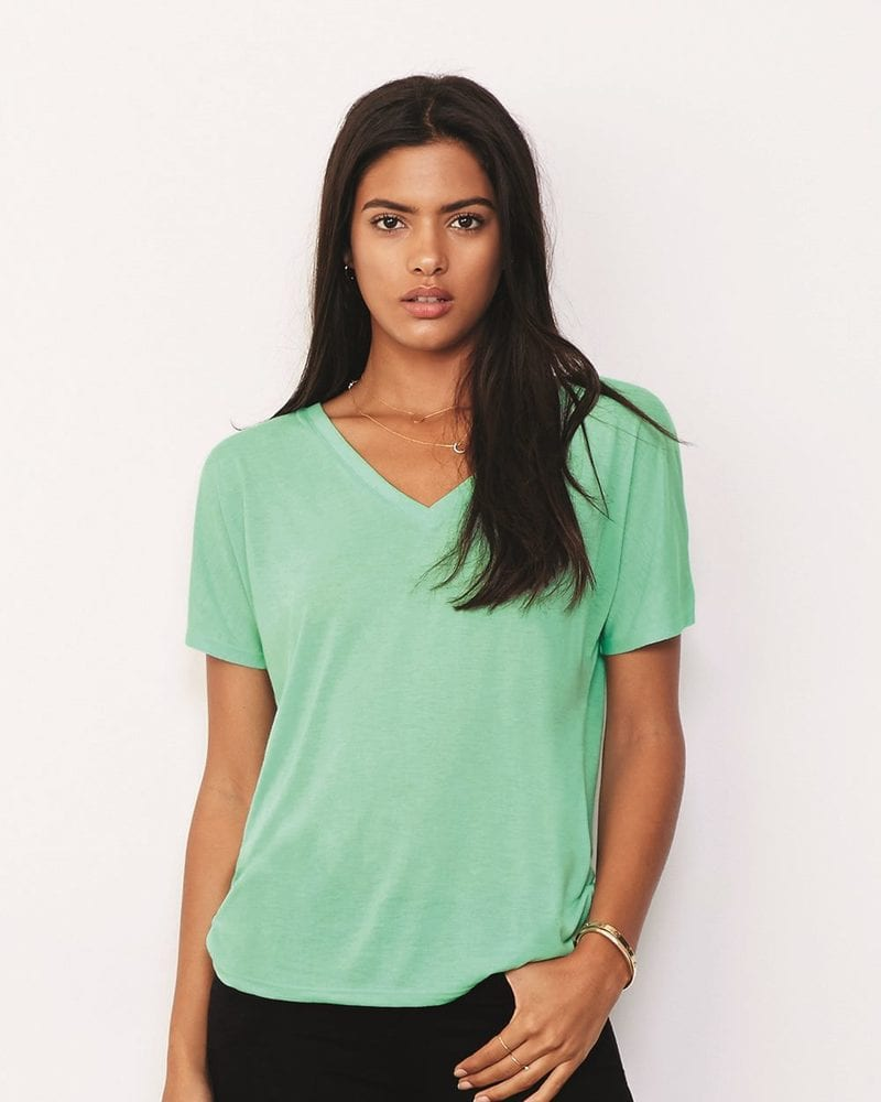 Bella+Canvas 8815 - Ladies' Flowy V-Neck Drop-Sleeve Tee