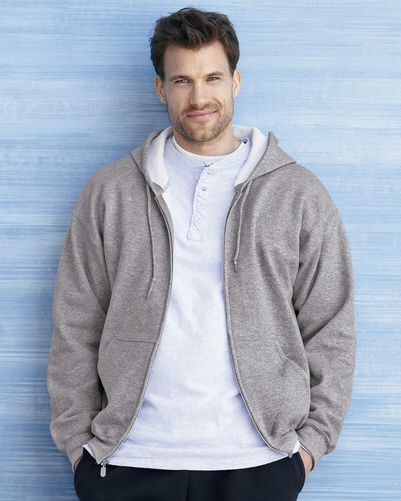 Gildan 12600 - DryBlend® Hooded Full-Zip Sweatshirt
