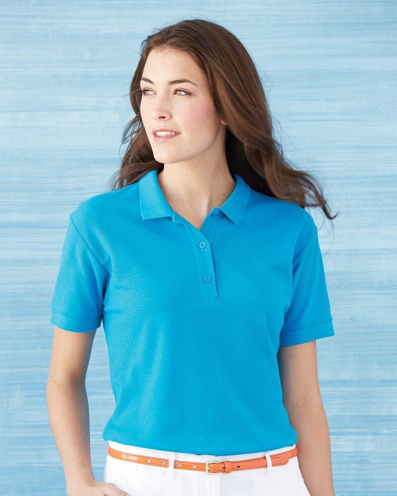 Gildan 82800L - Ladies' Premium Cotton Double Pique Sport Shirt