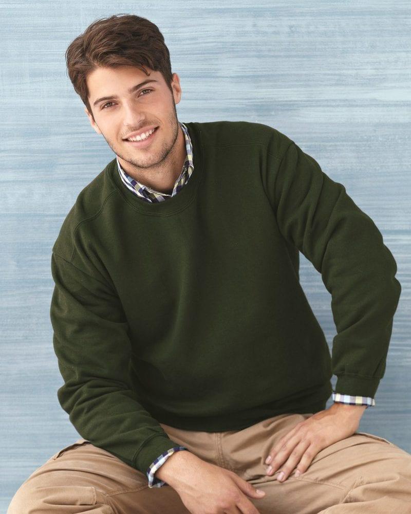 Gildan 92000 - Premium Cotton® Ringspun Fleece Crewneck Sweatshirt