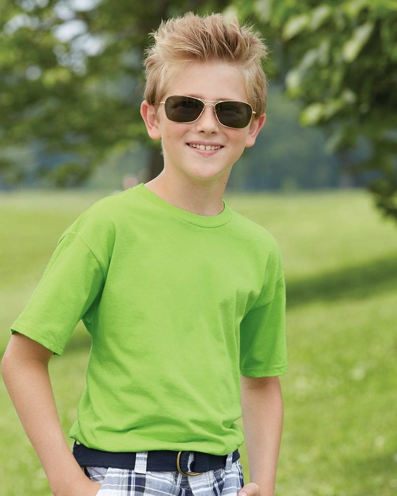 Hanes 498Y - Hanes® Youth Nano-T® Cotton T-Shirt