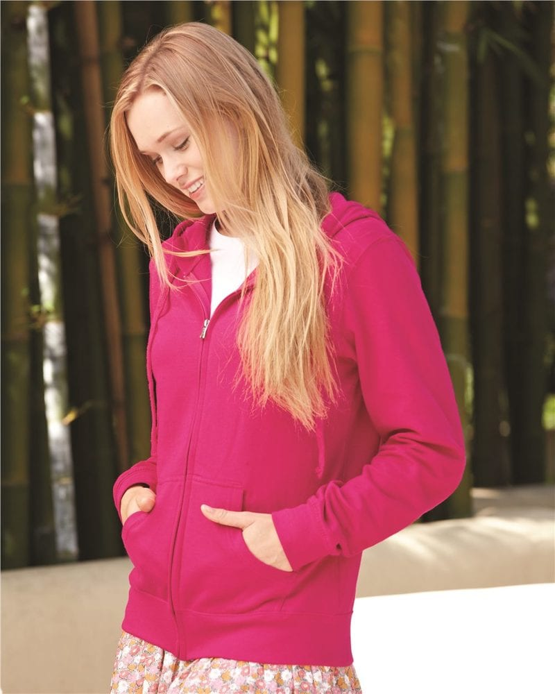 Independent Trading Co. SS650Z - Women's Lightweight Full Zip Hooded Fleece