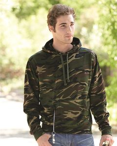 J. America 8615 - Tailgate Poly Fleece Hooded Pullover Sweatshirt