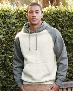 J. America 8885 - Vintage Heather Hooded Sweatshirt