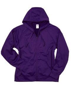 JERZEES PF93MR - 100% Polyester Fleece Full-Zip Hooded Sweatshirt