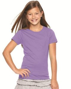LAT 2616 - Girls Fine Jersey Longer Length T-Shirt