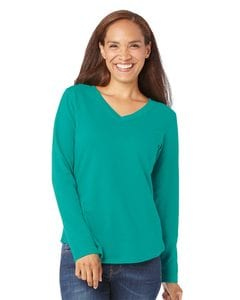 LAT 3761 - Ladies French Terry V-Neck