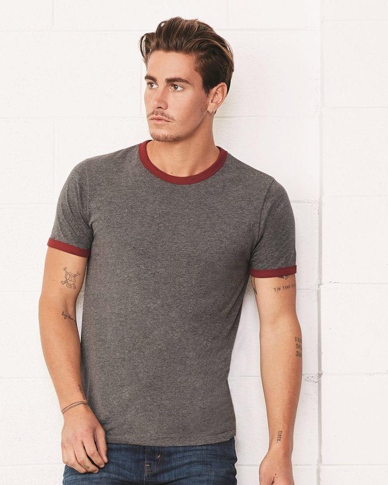 Bella+Canvas 3055 - Heather Ringer Jersey T-Shirt