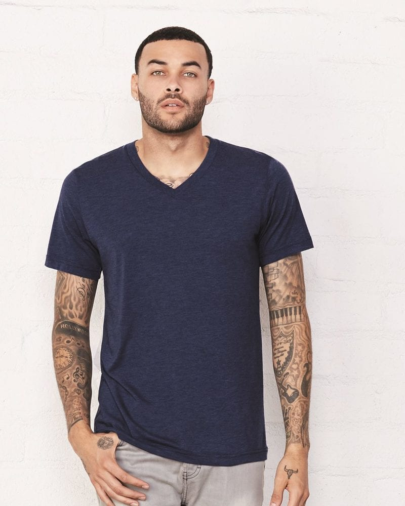 Bella+Canvas 3415 - Unisex Triblend V-Neck T-Shirt