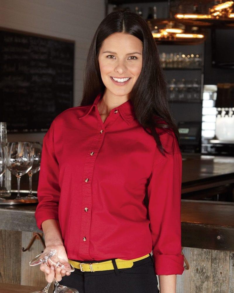 Sierra Pacific 5201 - Ladies' Long Sleeve Cotton Twill Shirt