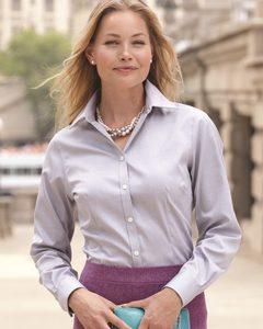 Van Heusen 13V0144 - Ladies Non-Iron Pinpoint Oxford Shirt