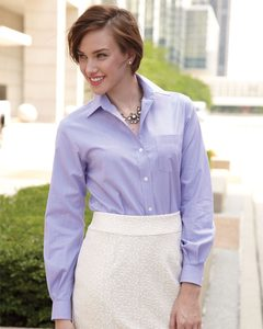Van Heusen 13V0236 - Ladies Classic Pincord Spread Collar Shirt