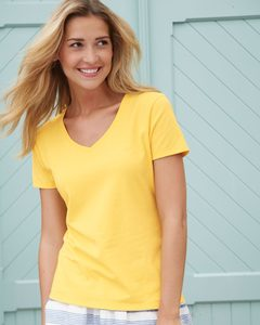 Hanes® Ladies Nano-T® Cotton V-Neck T-Shirt