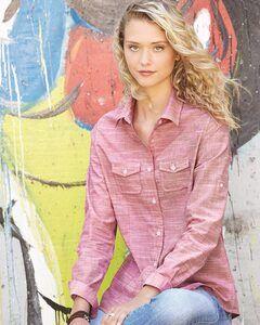 Burnside B5247 - Womens Textured Solid Long Sleeve Shirt