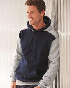 Champion S750 - Double Dry Colorblocked Eco Fleece Hooded Pullover Sweatshirt