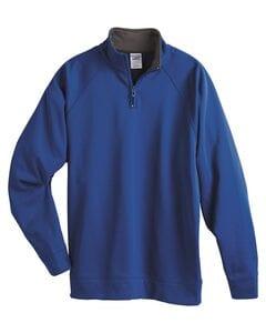 JERZEES PF95MR - 100% Polyester Fleece Quarter-Zip Cadet Collar Sweatshirt