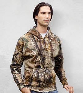 Code Five 3989 - Realtree Adult Camouflage Full-Zip Hooded Fleece