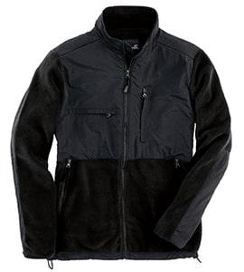 Sierra Pacific 3071 - Adult Full-Zip Nylon And Fleece Jacket