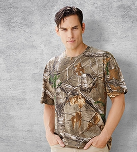 Code Five 3982 - Realtree Adult Camouflage Pocket T-Shirt