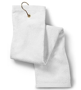 Anvil T68TH - Towels Plus By Deluxe Tri-Fold Hemmed Hand Towel With Center Grommet