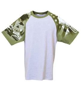 Everyday Life 100-24 - Army Theme Print Tee