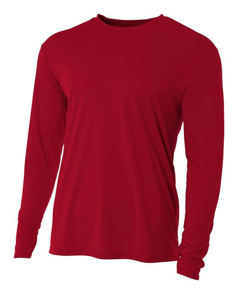 A4 N3165 - Long Sleeve Cooling Performance Crew Shirt