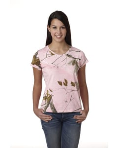 Code Five 3685 - Ladies Officially Licensed REALTREE® Camouflage Short Sleeve T-Shirt
