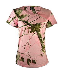 Code Five 3685 - REALTREE LADIES CAMOUFLAGE SHORT SLEEVE T-SHIRT
