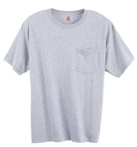 Hanes 5177 - ADULT COMFORTBLEND ECOSMART T-SHIRT WITH POCKET